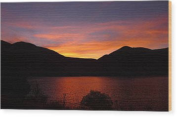 Wood Print featuring the photograph Sunset At Woodhead Campground  by Joel Deutsch