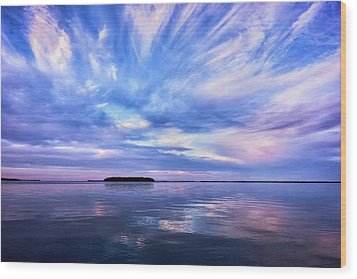 Sunset Awe Wood Print