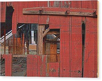 Sunset Barn Wood Print by Steve Siri
