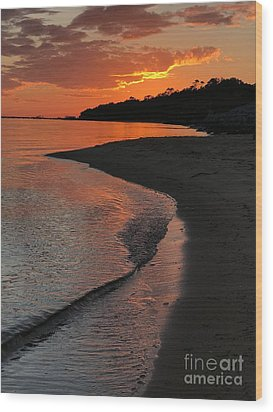Wood Print featuring the photograph Sunset Bay by Lori Mellen-Pagliaro