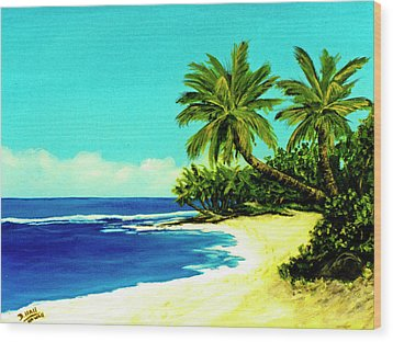 Sunset Beach Art North Shore Of Oahu In Summer #100 Wood Print by Donald k Hall