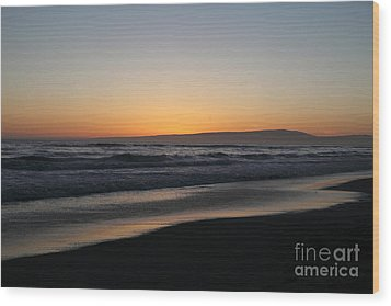 Sunset Beach California Wood Print by Amanda Barcon