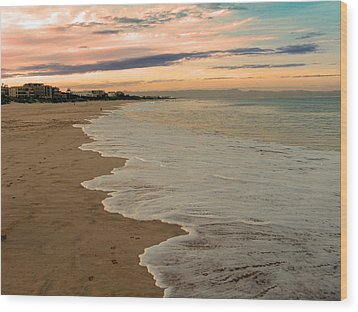 Wood Print featuring the photograph Sunset Beach by Riana Van Staden