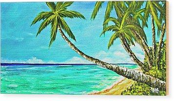 Sunset Beach#370  Wood Print by Donald k Hall