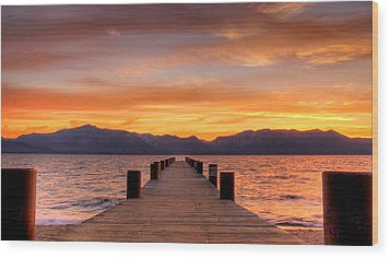 Sunset Bliss Wood Print by Brad Scott