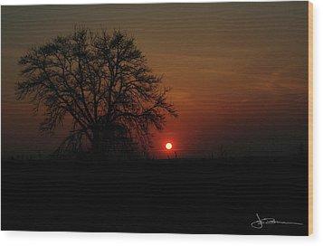 Sunset Bloody Sunset Wood Print