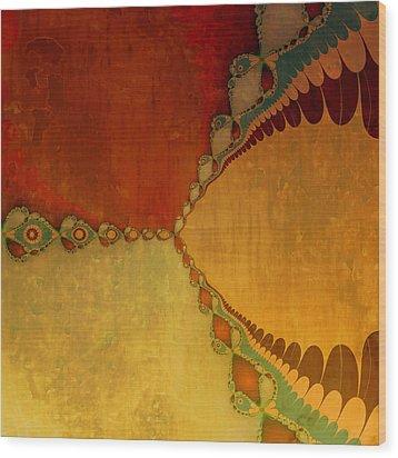 Sunset Wood Print by Bonnie Bruno