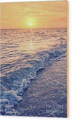 Wood Print featuring the photograph Sunset Bowman Beach Sanibel Island Florida Vintage by Edward Fielding