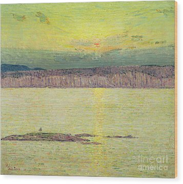 Sunset Wood Print by Childe Hassam