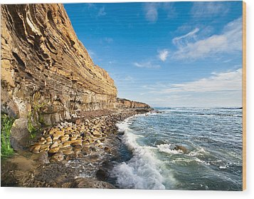 Sunset Cliffs Wood Print by Ryan Weddle