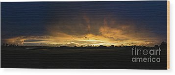 Wood Print featuring the photograph Sunset Clouds by Brian Jones