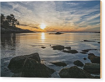 Sunset Cove Gloucester Wood Print