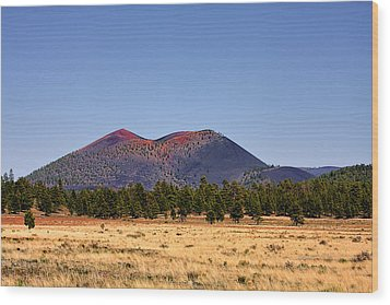 Sunset Crater Volcano National Monument Wood Print by Christine Till