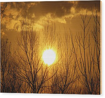 Sunset Wood Print by Dottie Dees