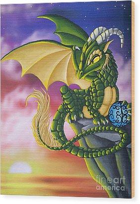 Sunset Dragon Wood Print