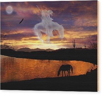 Sunset Dreams Wood Print by Nadene Merkitch