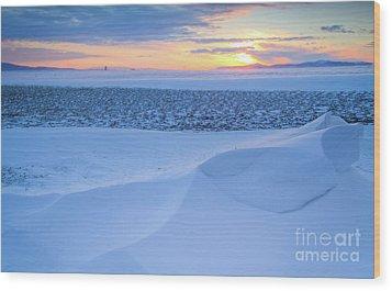 Sunset Drift Wood Print by Idaho Scenic Images Linda Lantzy