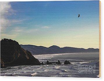 Sunset Eagle Wood Print by Jon Burch Photography
