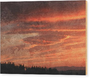 Sunset Event Wood Print by Dorothy Berry-Lound