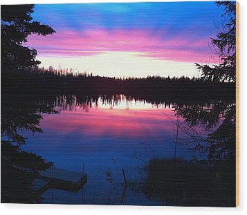Sunset Explosion Wood Print