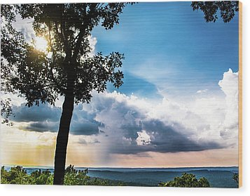 Wood Print featuring the photograph Sunset Explosion by Shelby Young
