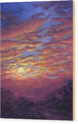 Sunset Fantasy Wood Print by Elaine Farmer