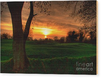 Sunset For The Past Wood Print by Kim Shatwell-Irishphotographer