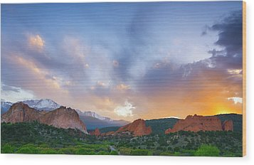 Wood Print featuring the photograph Sunset Forever by Tim Reaves