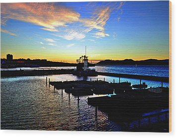 Wood Print featuring the photograph Sunset From Pier 39 - San Fransisco by Glenn McCarthy Art and Photography