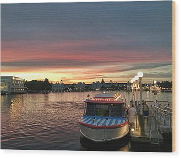 Sunset From The Boardwalk Wood Print by John Black