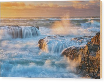 Wood Print featuring the photograph Sunset Fury by Darren White