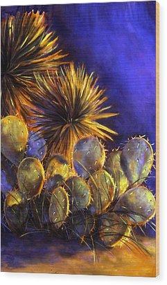 Sunset Gems Wood Print by Ann Peck