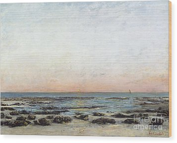 Sunset Wood Print by Gustave Courbet