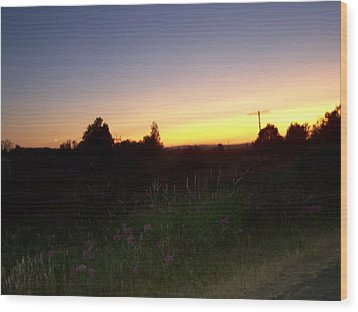 Sunset Haze Wood Print by Laurie Kidd