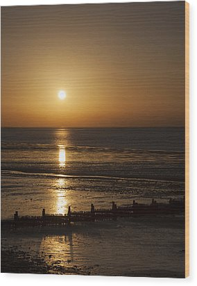 Sunset Hunstanton Wood Print