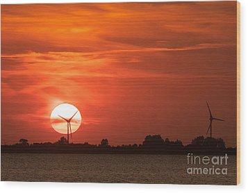 Sunset Husum Wood Print