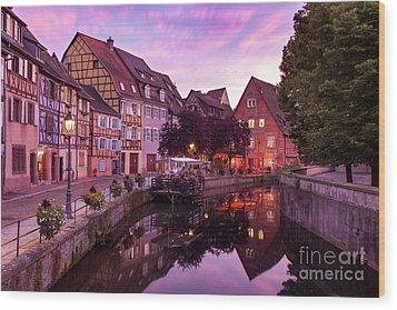 Sunset In Colmar Wood Print by Brian Jannsen