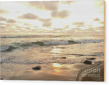 Sunset In Golden Tones Torrey Pines Natural Preserves #2 Wood Print