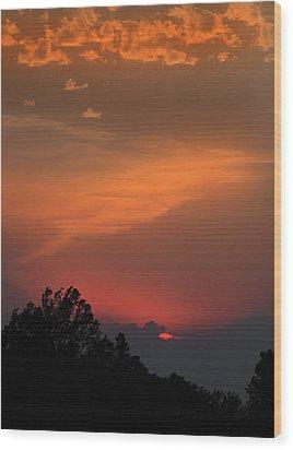 Sunset In Kansas Wood Print