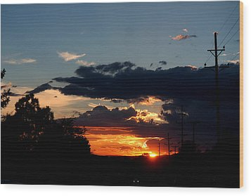 Wood Print featuring the photograph Sunset In Oil Santa Fe New Mexico by Diana Mary Sharpton