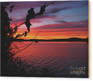 Wood Print featuring the photograph Sunset In Pennsylvania by Donna Brown