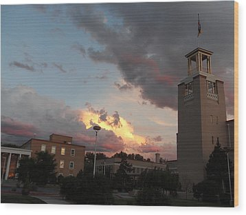 Sunset In Santa Fe Wood Print