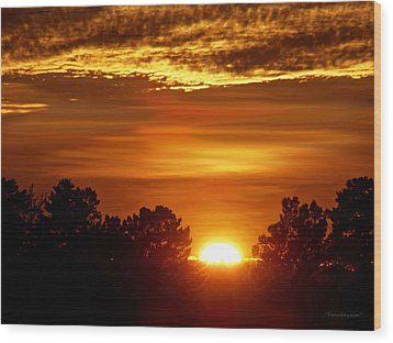 Sunset In Sonoma County Wood Print