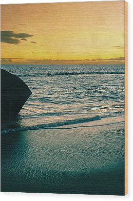 Sunset In Tenerife Wood Print by Loriental Photography