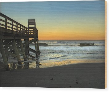 Wood Print featuring the photograph Sunset In The East by Linda Olsen