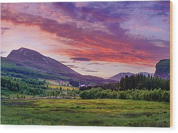 Wood Print featuring the photograph Sunset In The Meadow by Dmytro Korol