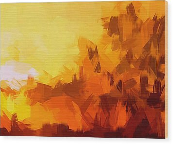 Sunset In Valhalla Wood Print by Paulo Guimaraes