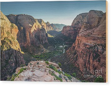 Sunset In Zion National Park Wood Print by JR Photography