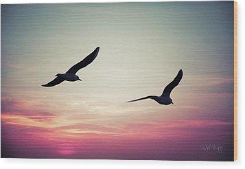 Sunset Wood Print by Joseph Westrupp