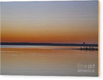 Wood Print featuring the photograph Sunset Lake Texhoma by Diana Mary Sharpton